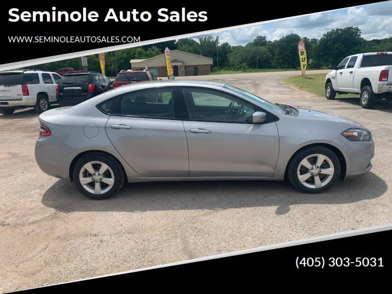 2015 Dodge Dart for sale at Seminole Auto Sales in Seminole OK