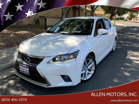 2014 Lexus CT 200h for sale at Allen Motors, Inc. in Thousand Oaks CA