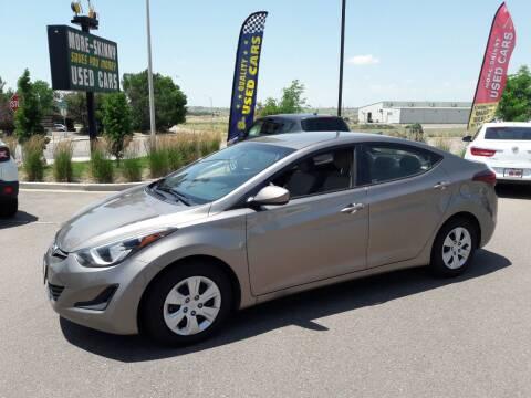 2016 Hyundai Elantra for sale at More-Skinny Used Cars in Pueblo CO