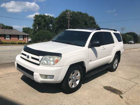 2004 Toyota 4Runner for sale at E Motors LLC in Anderson SC