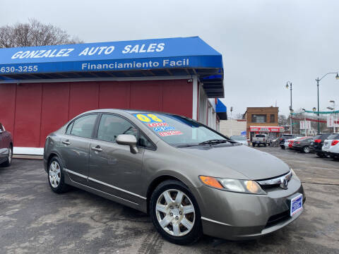 2008 Honda Civic for sale at Gonzalez Auto Sales in Joliet IL