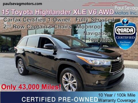 2015 Toyota Highlander for sale at Paul Sevag Motors Inc in West Chester PA