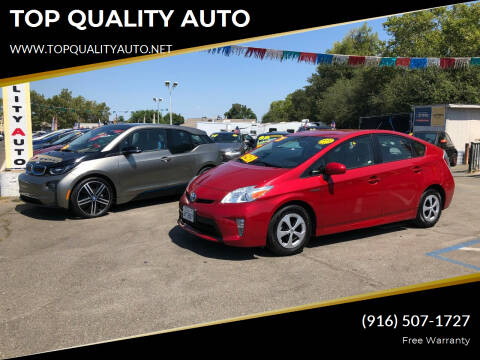 2013 Toyota Prius for sale at TOP QUALITY AUTO in Rancho Cordova CA