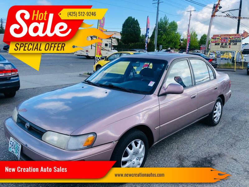 1993 Toyota Corolla for sale at New Creation Auto Sales in Everett WA