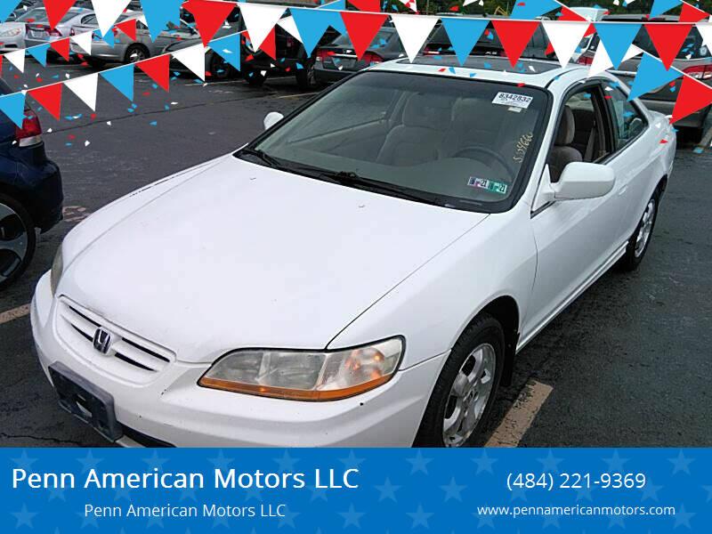 2001 Honda Accord for sale at Penn American Motors LLC in Allentown PA