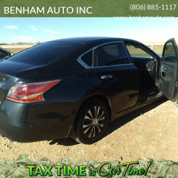 2014 Nissan Altima for sale at BENHAM AUTO INC in Lubbock TX