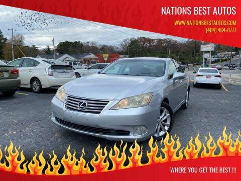 2010 Lexus ES 350 for sale at Nations Best Autos in Decatur GA