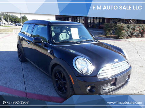 2013 MINI Clubman for sale at F.M Auto Sale LLC in Dallas TX