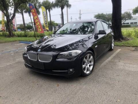 2013 BMW 5 Series for sale at Monster Cars in Pompano Beach FL