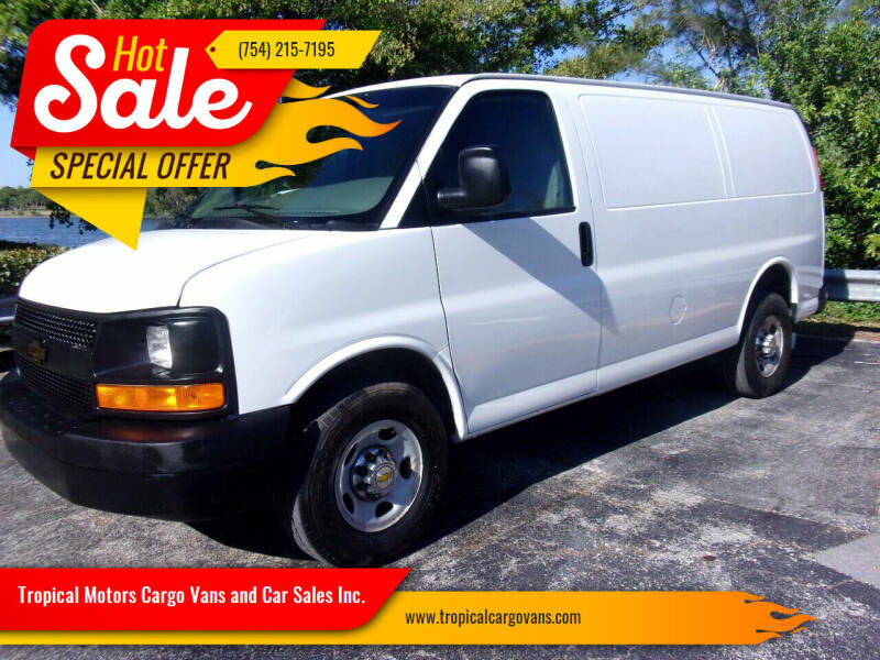 2013 Chevrolet Express Cargo for sale at Tropical Motors Cargo Vans and Car Sales Inc. in Pompano Beach FL
