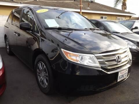 2012 Honda Odyssey for sale at PACIFICO AUTO SALES in Santa Ana CA