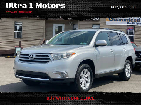 2013 Toyota Highlander for sale at Ultra 1 Motors in Pittsburgh PA