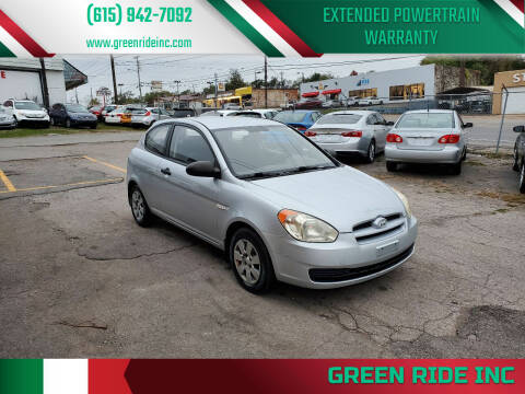 2007 Hyundai Accent for sale at Green Ride Inc in Nashville TN