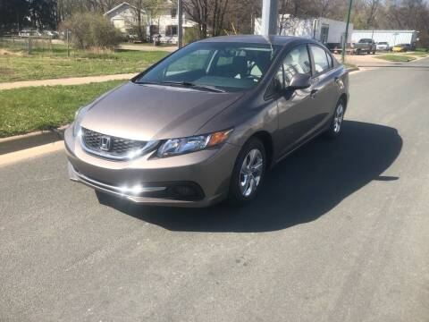 2013 Honda Civic for sale at ONG Auto in Farmington MN