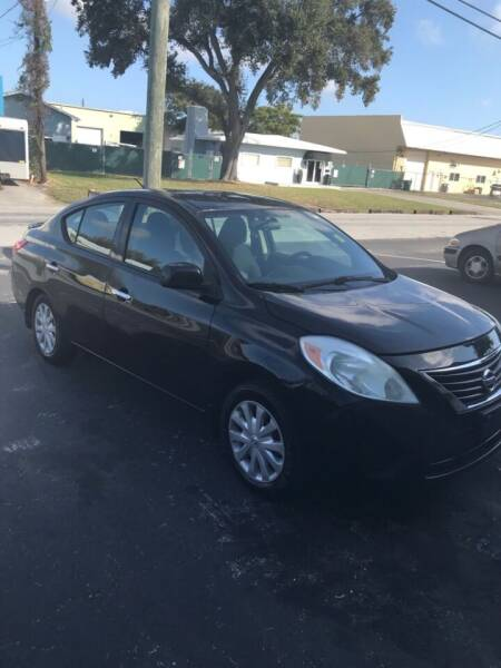 2014 Nissan Versa for sale at MLG Auto Group Inc. in Pompano Beach FL