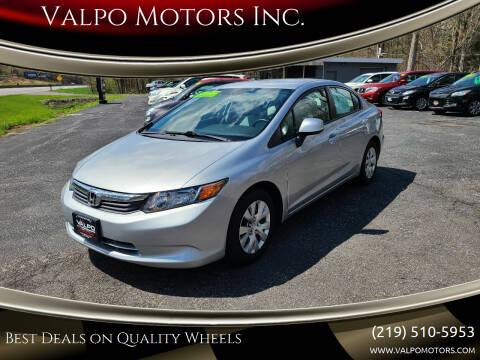 2012 Honda Civic for sale at Valpo Motors Inc. in Valparaiso IN
