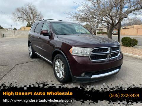 2012 Dodge Durango for sale at High Desert Auto Wholesale in Albuquerque NM