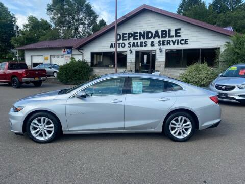 2017 Chevrolet Malibu for sale at Dependable Auto Sales and Service in Binghamton NY