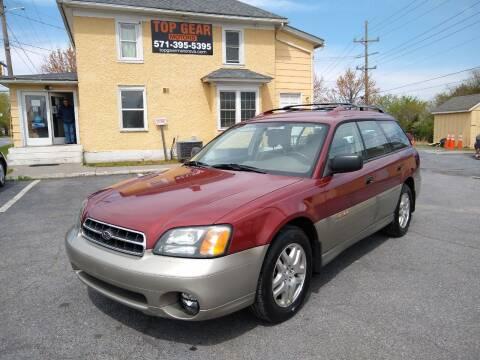 2002 Subaru Outback for sale at Top Gear Motors in Winchester VA