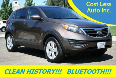 2012 Kia Sportage for sale at Cost Less Auto Inc. in Rocklin CA