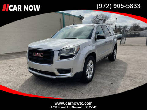 2015 GMC Acadia for sale at Car Now Dallas in Dallas TX