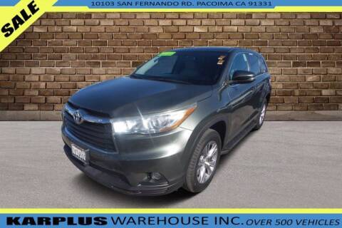 2015 Toyota Highlander for sale at Karplus Warehouse in Pacoima CA