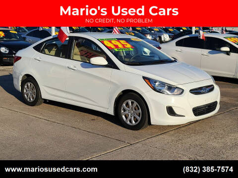 2013 Hyundai Accent for sale at Mario's Used Cars in Houston TX