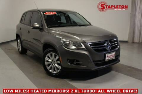 2010 Volkswagen Tiguan for sale at STAPLETON MOTORS in Commerce City CO