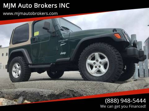 1999 Jeep Wrangler for sale at MJM Auto Brokers INC in Gloucester MA