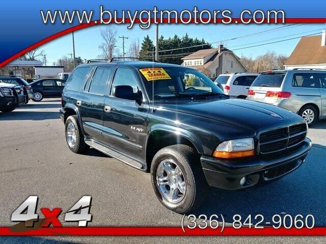 2002 Dodge Durango for sale at GT Motors, LLC in Elkin NC