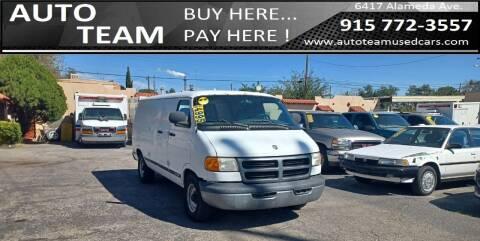 1999 Dodge Ram Van for sale at AUTO TEAM in El Paso TX