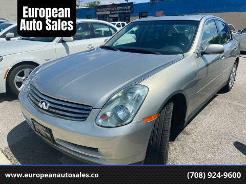 2004 Infiniti G35 for sale at European Auto Sales in Bridgeview IL