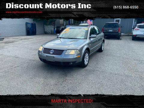 2004 Volkswagen Passat for sale at Discount Motors Inc in Madison TN