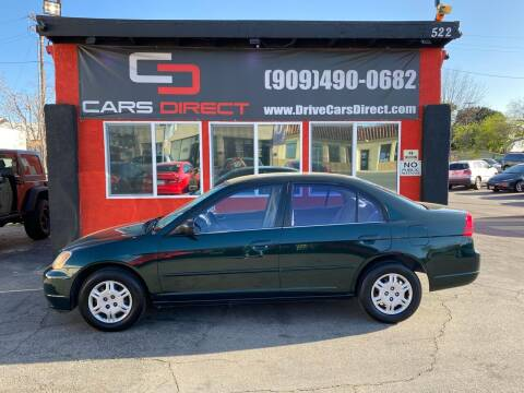 2002 Honda Civic for sale at Cars Direct in Ontario CA