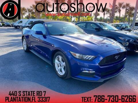 2016 Ford Mustang for sale at AUTOSHOW SALES & SERVICE in Plantation FL