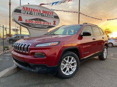 2016 Jeep Cherokee for sale at Arizona Drive LLC in Tucson AZ