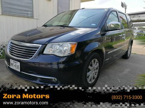 2011 Chrysler Town and Country for sale at Zora Motors in Houston TX