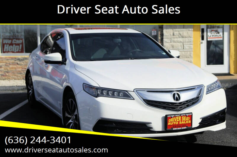 2015 Acura TLX for sale at Driver Seat Auto Sales in St. Charles MO