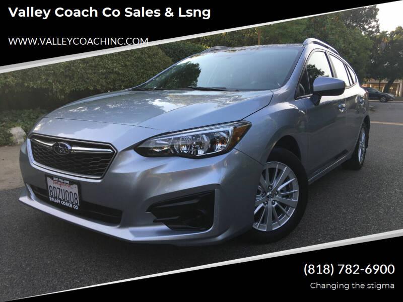 2018 Subaru Impreza for sale at Valley Coach Co Sales & Lsng in Van Nuys CA