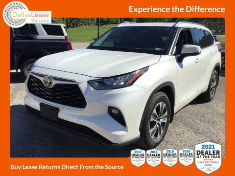 2020 Toyota Highlander for sale at Dallas Auto Finance in Dallas TX
