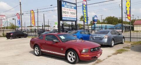 2009 Ford Mustang for sale at S.A. BROADWAY MOTORS INC in San Antonio TX