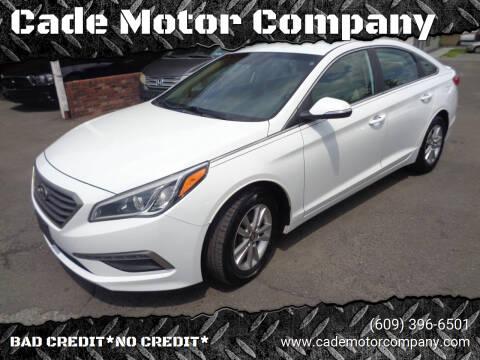 2015 Hyundai Sonata for sale at Cade Motor Company in Lawrence Township NJ