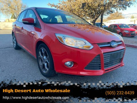 2013 Ford Focus for sale at High Desert Auto Wholesale in Albuquerque NM