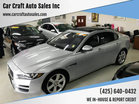 2017 Jaguar XE for sale at Car Craft Auto Sales Inc in Lynnwood WA