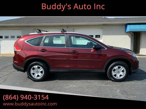 2013 Honda CR-V for sale at Buddy's Auto Inc in Pendleton, SC