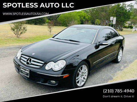 2008 Mercedes-Benz CLK for sale at SPOTLESS AUTO LLC in San Antonio TX