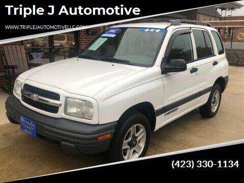 2002 Chevrolet Tracker for sale at Triple J Automotive in Erwin TN