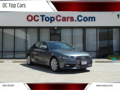 2013 Audi A4 for sale at OC Top Cars in Irvine CA