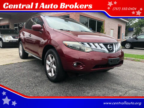 2009 Nissan Murano for sale at Central 1 Auto Brokers in Virginia Beach VA