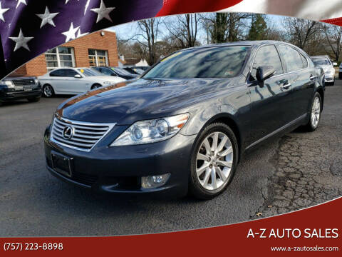 2010 Lexus LS 460 for sale at A-Z Auto Sales in Newport News VA